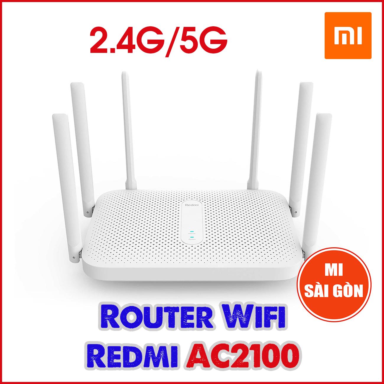 Bộ phát Wifi Router Wifi Redmi AC2100 ( 6 anten ) (TRẮNG)