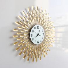 Đồng hồ treo tường hoa pha lê vàng 13013838
