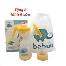 Máy hút sữa bằng tay Babuu tặng 6 túi trữ sữa