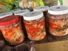 Măng chưa ngâm mắc mật tỏi ớt, đặc sản Lạng Sơn