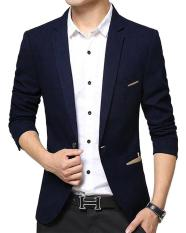 Áo Khoác Vest Nam Hàn Quốc Thời Trang Đẹp Vải Dày Mịn Xanh Đen – TTN00141