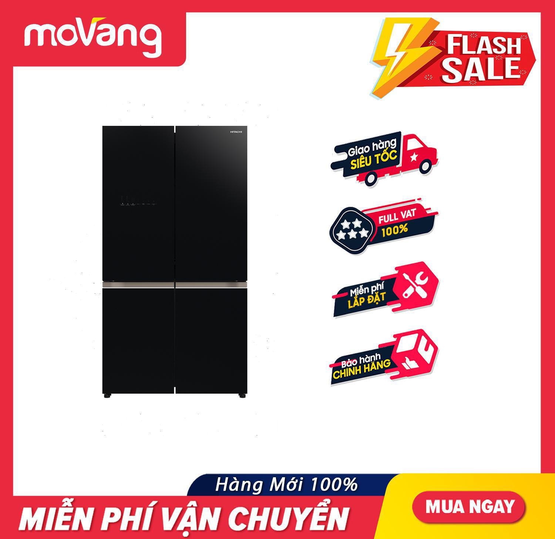 [TRẢ GÓP 0%] Tủ lạnh Hitachi Inverter 569 lít R-WB640VGV0(GBK) – Công nghệ Inverter Khử mùi 03 lớp Triple Power Filter