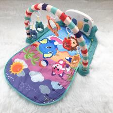 Thảm nằm chơi có nhạc hình thú ngộ nghĩnh cho bé mẫu voi xanh 9BABY