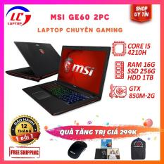 Laptop Gaming Giá Rẻ MSI GE60 2PC, i5-4200H, VGA rời NVIDIA GTX 850M-2G, Màn 15.6 FullHD IPS, LaptopLC298