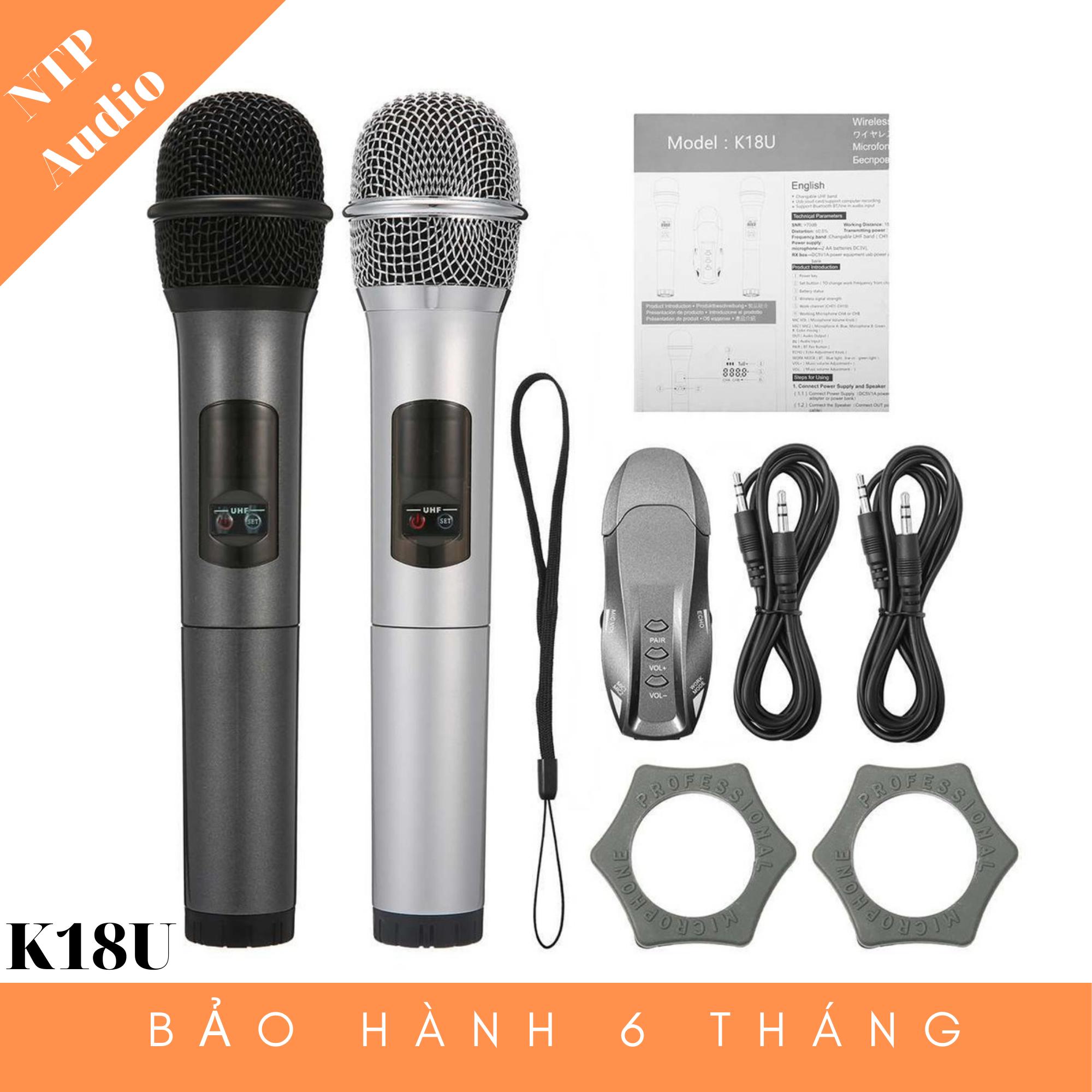 Mic Karaoke bluetooth K18U (Mic đôi)