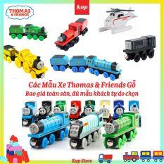 Xe lửa Thomas gỗ, xe lửa thomas and friends, tàu hỏa thomas và những người bạn, phụ kiện xe chơi cùng đường ray xe lửa gỗ