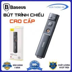 baseus orange dot bút trình chiếu không dây Wireless có đèn laser – bút thuyết trình bluetooth r400 dùng cho laptop windows macbook macos