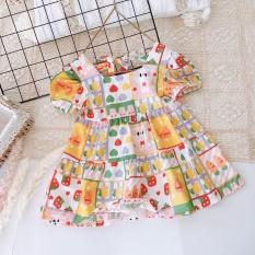 Váy Đũi Hoa Quả-Thỏ- Cà Rốt Cho Bé (9-21kg) (SP001564 )