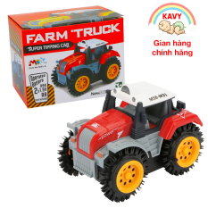 Đồ chơi ô tô xe tải nông trại chạy pin, chi tiết sắc sảo nhựa nguyên sinh an toàn có chứng chỉ hợp quy (màu đỏ)-KAVY
