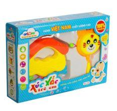 Hộp Xúc Xắc 2 Chi Tiết Antona Cho Trẻ Sơ Sinh Nhận Biết Âm Thanh đồ chơi trẻ em dưới 1 tuổi Lục Lạc