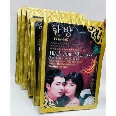 Combo 5 Gói Dầu Gội Nhuộm Đen Tóc Black Hair Shampoo Hàn Quốc, An Toàn Cho Da, Không Độc Hại, Đen Ngay Sau Lần Sử Dụng