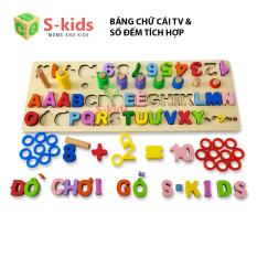 Đồ Chơi Trẻ Em S-Kids, Bảng chữ cái tiếng việt Hoa có dấu, Đồ chơi gỗ thông minh cho bé.