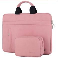 Túi xách, túi đựng, túi chống sốc cho Laptop, Macbook 13 inch chất da lộn kèm ví đựng phụ kiện