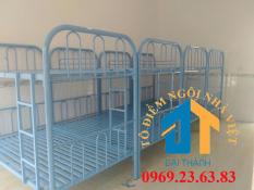 Giường sắt 2 tầng cao cấp chiều ngang 1M dài 2M cao 1m7 nhiều màu – Nội Thất Đại Thành