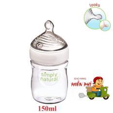 Bình sữa Nuk Simply Natural núm ti mô phỏng ti mẹ 150ml (5oz)-Xách tay Mỹ