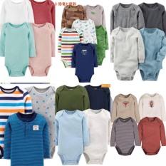 Set 10 bodysuit tay dài cho bé trai và gái 3-24 tháng