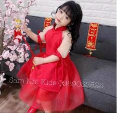 Áo dài cách tân bé gái đón tết siêu xinh cả Mẹ và Bé (Size Bé 15-25kg Size Mẹ 45-55kg )