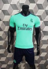 Bộ quần áo bóng đá REAL màu XANH NGỌC đồ đá banh mới