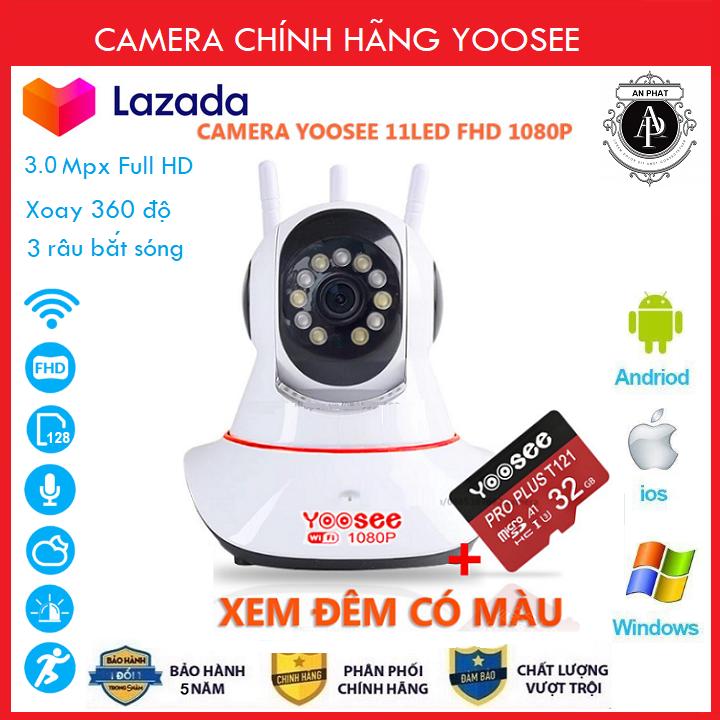 Camera IP YooSee WIFI Xoay 360 Độ, Ban Đêm Có Màu Quan Sát Rõ Ngày Và Đêm FULL HD 1080p 3.0mpx Báo Động Chống Trộm – Chính Hãng