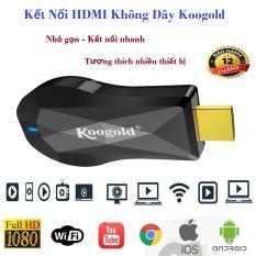 Kết Nối HDMI Không Dây, Cáp Kết Nối, Thiết Bị Kết Nối HDMI Không Dây KOOGOLD Thiết Kế Nhỏ Gọn, Sử Dụng Dễ Dàng Không Cần Cài Đặt, Truyền Tải Thông Tin Lên TV, Máy Chiếu Nhanh, Ổn Định – Bảo Hành 12 Tháng.