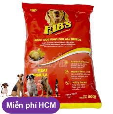 Hanpet.HCM miễn ship>99k (Combo 10 gói -Mỗi Gói 500g) FIB'S -Thức ăn cao cấp dạng hạt cho MỌI LOẠI CHÓ (trên 10kg) HP2911010 -Thức ăn khô cho chó / thức ăn chó / cám chó / thức ăn cho chó lớn fib