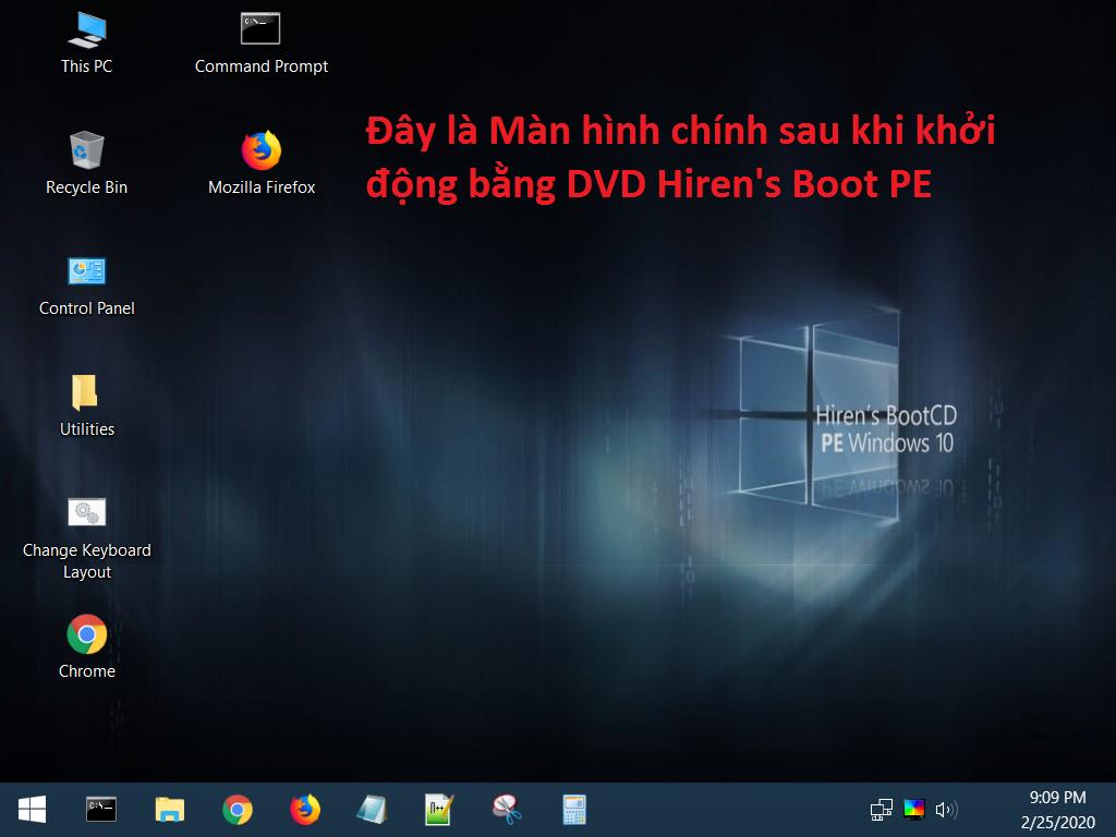DVD cứu hộ máy tính Hiren's Boot PE