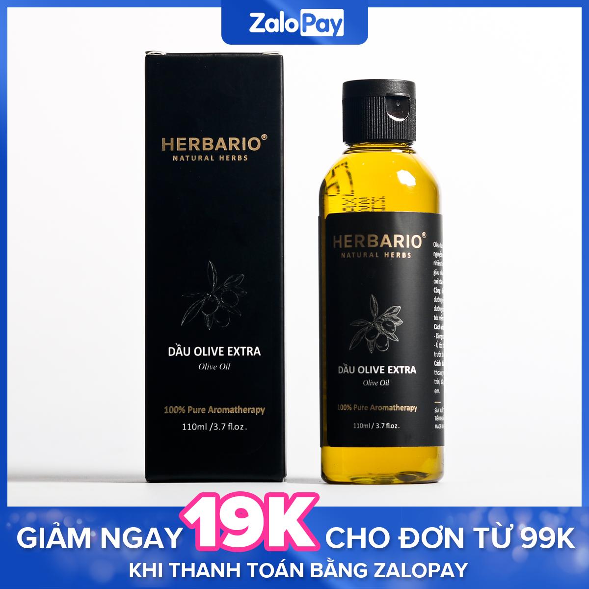 Dầu oliu (olive) làm đẹp Extra nguyên chất herbario 110ml giúp dưỡng da, dưỡng ẩm