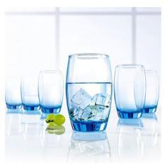 Combo 6 ly bầu thủy tinh – xanh