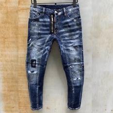 Quần jean nam vảy sơn cao cấp dsq hàng quảng châu vải mềm co dãn chuẩn shop PN FASHION kv11