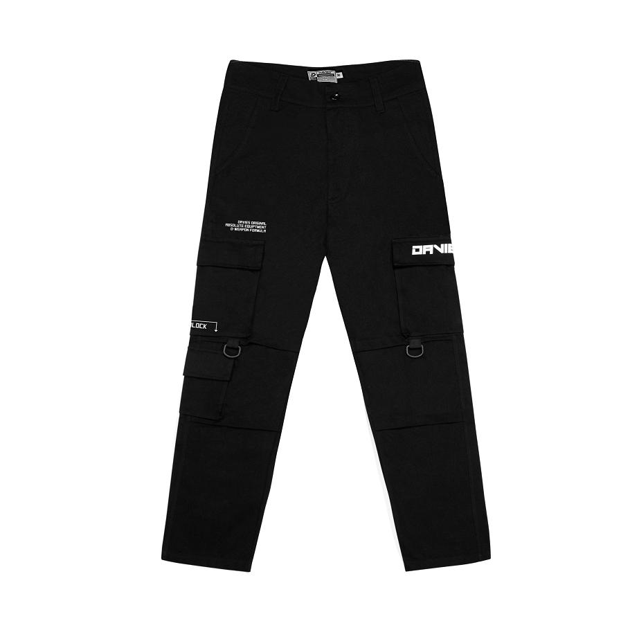 Quần kaki túi hộp màu đen – Box Pant