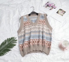 Áo len gile thổ cẩm phong cách thời trang thu đông – Pinkkee