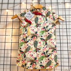 [HCM]Sườn xám cho bé gái 8-22kg cổ tàu cao cấp chất gấm hoa loại 1 chuẩn form siêu đáng yêu Baby-S – SAD004