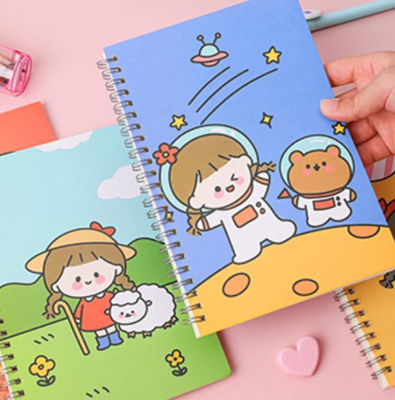 Tập vở học sinh hình ciu xỉu – sổ ghi bài cỡ A5 lớn nhiều hình cho các bé chọn