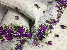 Bộ drap thun sọc hoa 4 món kt 1m6