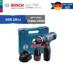 Máy khoan vặn vít động lực dùng pin cầm tay Bosch GSB 120-LI