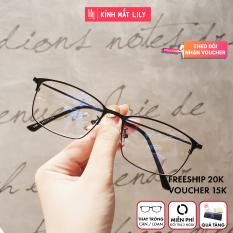 Kính Gọng Mảnh Nam Nữ 9042 – Kính Cận Kim Loại-Gọng Kính Hàn Quốc-Gọng Kính Unisex-Gọng Kính Thời Trang-Lily Eyewear kèm quà