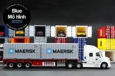 Trọn bộ xe mô hình xe đầu kéo container tuyệt đẹp JAC 1:24