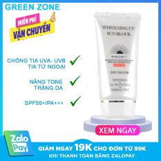 Kem chống nắng Hàn Quốc JigotT Whitening UV Sun Block SPF50+ 70ml, kem chống nắng dưỡng trắng, Green Zone