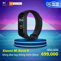 [HÀNG CHÍNH HÃNG – BẢO HÀNH 12 THÁNG] Vòng đeo tay thông minh Xiaomi Mi Band 4 – Màn hình AMOLED 0.95 inch – 6 chế độ tập luyện – Hỗ trợ tiếng Việt – Chống nước 50m