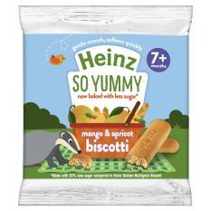 Bánh ăn dặm Heinz – Bánh quy ăn dặm vị xoài đào cho bé 7 tháng tuổi. Date 2021