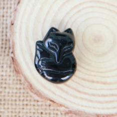 Mặt dây chuyền Hồ Ly phong thủy Tình Duyên đá tự nhiên 100% – size 2.75cm
