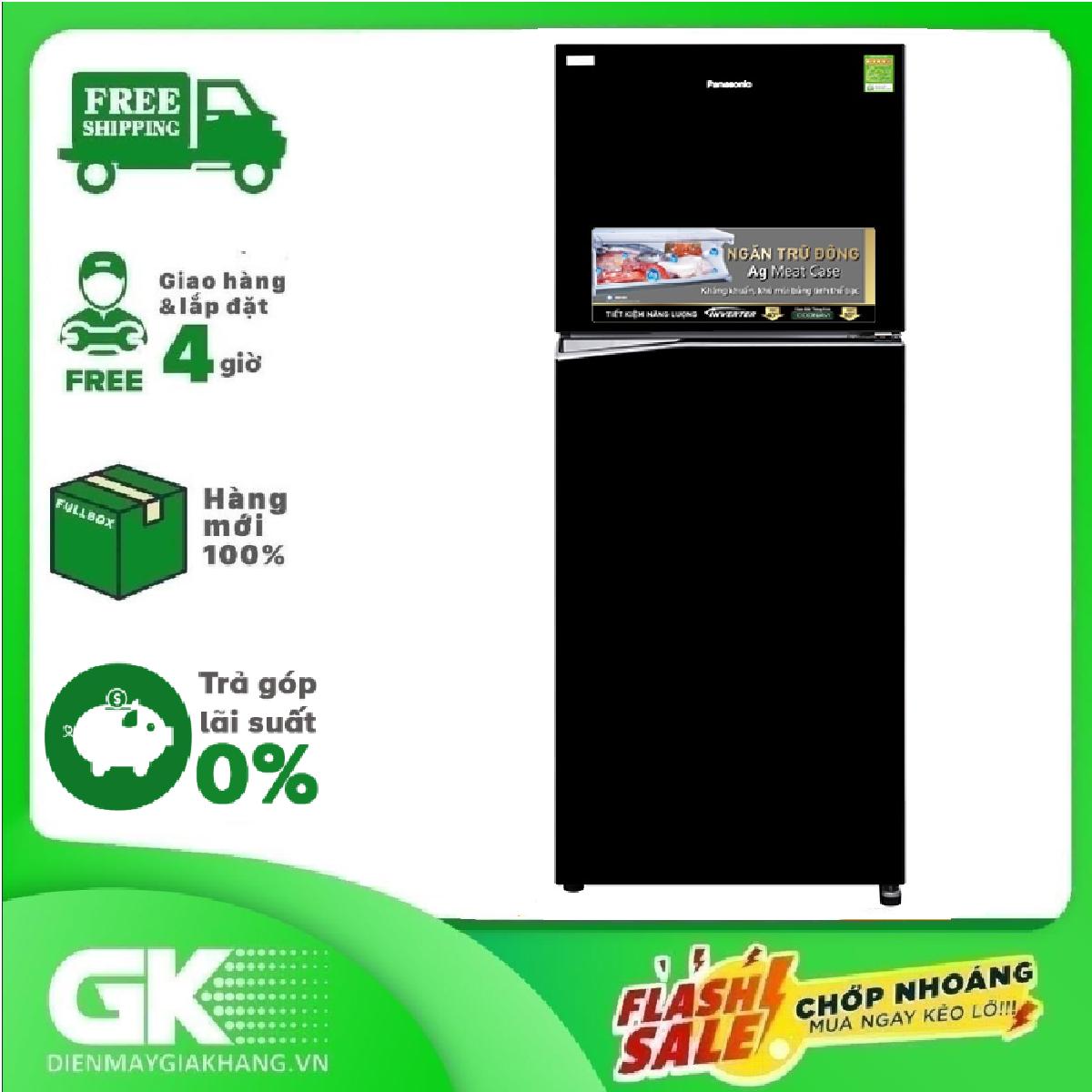 TRẢ GÓP 0% – Tủ lạnh Panasonic Inverter 326 lít NR-BL351WKVN- Bảo hành 2 năm