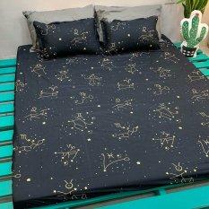 Ga trải giường,Drap ga giường vải cotton poly,đủ kích thước mẫu cung hoàng đạo