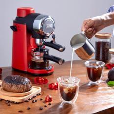 Máy pha cà phê capuchino, espesso, máy pha cà phê tiện lợi (Vỏ nhựa), màu đỏ 2005 TopOne2020