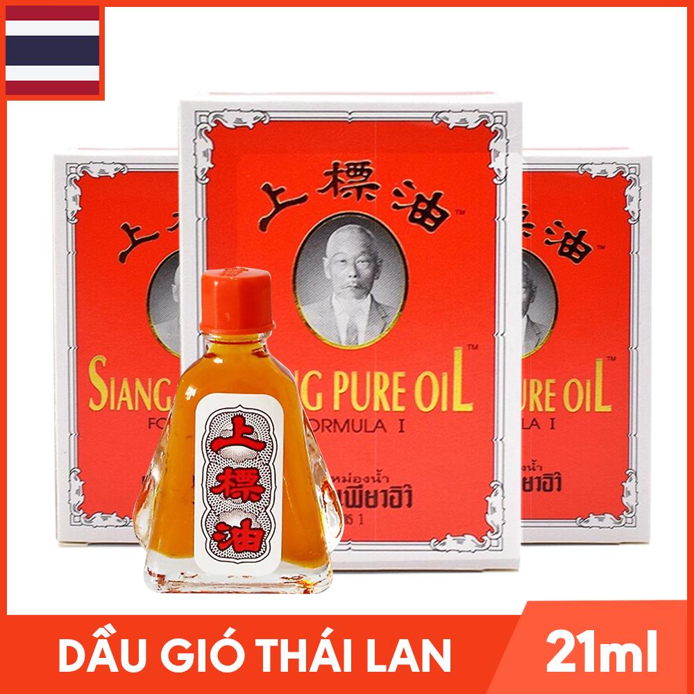 Bộ 3 Chai Dầu Gió Thái Lan Hình Ông Già Siang Pure Oil – Chai 7ml