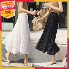 Chân váy xếp ly dáng dài ( hình thật + video )