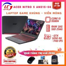 Acer Nitro 5 An515-54 Core I5-9300H, VGA Nvidia GTX 1050- 3G, Màn 15.6 FullHD IPS Sắc Nét, Độ Nảy Phím Tốt, Laptop Gaming,