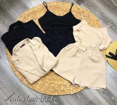 Set áo vest kèm áo hai dây và quần short