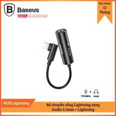 Bộ chuyển cổng Lightning sang Audio 3.5mm + Lightning Baseus L42 cho iPhone X/ XS/ XS Max