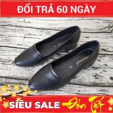 Giày Cao Gót 3cm Giày Gót Vuông Dáng Đẹp Xinh Xắn 3P2620TTG Evelynv (Đen)